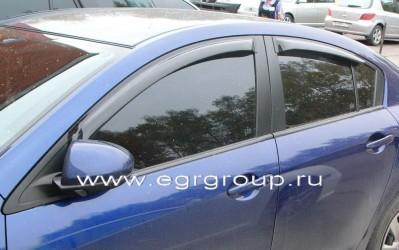 Дефлекторы окон EGR Mazda 3 II Sd 2009