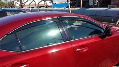 Дефлекторы окон с хром молдингом Lexus IS 2006-2012