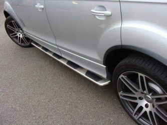 Пороги боковые Audi Q7 2006-2015 оригинальный дизайн