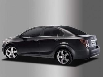 Молдинги окна нижние Chevrolet Aveo T300 2011- (нержавеющая сталь)