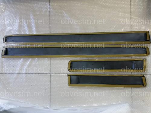 Молдинги на двери Toyota Land Cruiser Prado 150 / Lexus GX 460 цвет черный
