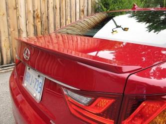 Спойлер лип на багажник Lexus GS 2012- ABS пластик