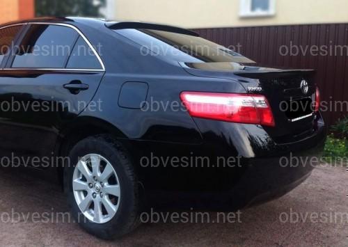 Спойлер лип багажника Toyota Camry 40 2006-2011 ABS пластик в черном цвете, КАЧЕСТВО!
