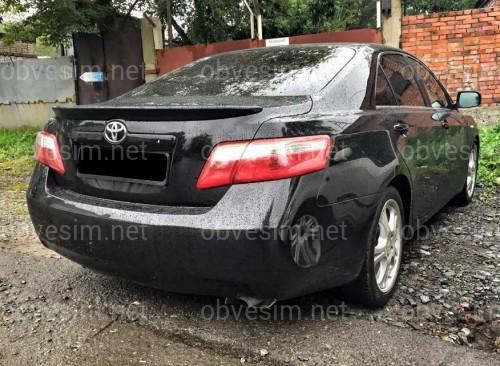 Спойлер лип багажника Toyota Camry 40 2006-2011 ABS пластик в черном цвете