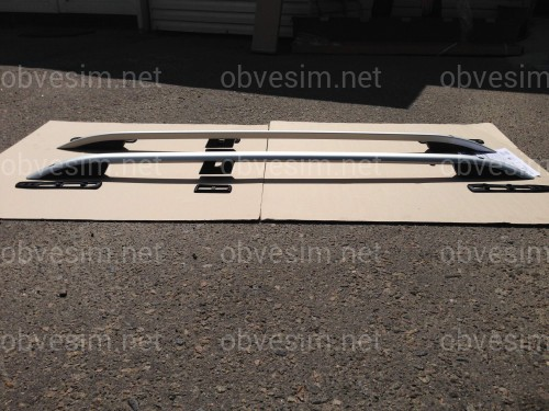 Рейлинги на крышу модель CROWN Fiat Doblo I 00-06 / 07-  КОРОТКАЯ БАЗА, цвет серый мат