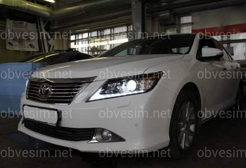 Передние альтернативные фары Lexus Style для Toyota Camry 50 2011-2014