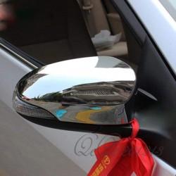 Хром накладки на зеркала Toyota Auris 13- / Camry 50/55 11- / Corolla 2013- / Yaris 11- хромированный пластик