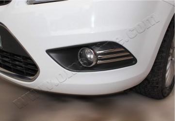 Хром накладки на противотуманные фары Omsa Ford Focus 2008-2010 (6 шт)