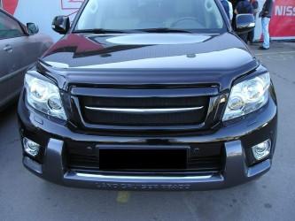 Решетка радиатора JAOS с планкой капота и хром лезвием для Toyota Land Cruiser 150 Prado 2009-2013