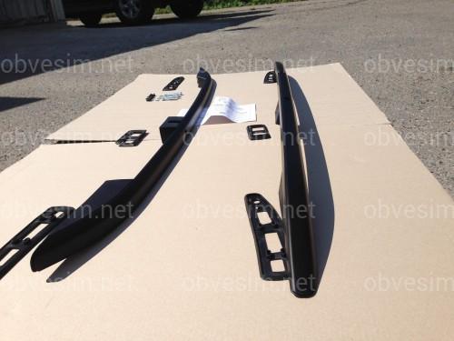 Рейлинги на крышу модель CROWN Volkswagen Caddy 2010-2015 КОРОТКАЯ БАЗА, цвет черный