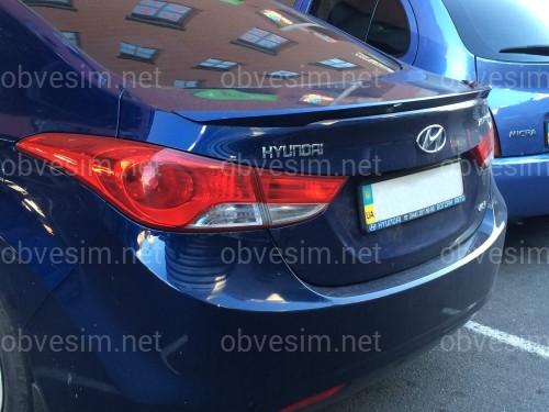 Спойлер лип багажника Hyundai Elantra MD 2010-2015 ABS пластик под покраску
