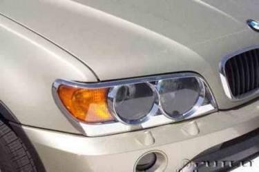 Хромированные накладки на фары Wellstar BMW X5 E53 1999-2004