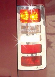 Хром накладки на стопы Ford Transit Connect/Tourneo 2004-2009 (нержавеющая сталь)