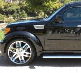 Хром накладки на воздуховоды Dodge Nitro 2006-2011 (ABS пластик)