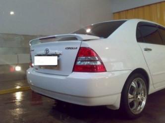 Спойлер на багажник со стоп сигналом Toyota Corolla седан 2003-2006 ABS пластик под покраску