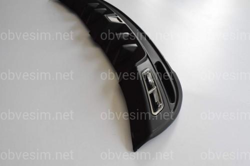 Накладка заднего бампера (диффузор) Hyundai Elantra MD 2010-2013