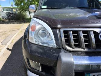 Ресницы на фары Toyota Land Cruiser Prado 120 2003-2009