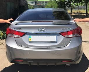Спойлер на багажник Hyundai Elantra MD 2010-2015 со стоп сигналом ABS пластик