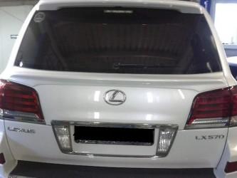 Спойлер под стекло WALD для Lexus LX 570 2008-2015 ABS пластик черный