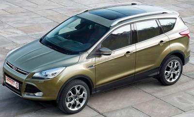 Рейлинги на крышу Ford Kuga / Escape 2013-2019 качество оригинала (алюминий 2шт.)