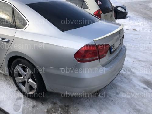 Спойлер лип на багажник Volkswagen Passat B7 USA 2011-2015 ABS пластик под покраску