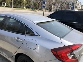 Козырёк на стекло Honda Civic 2016- ABS пластик под покраску