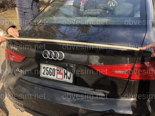 Спойлер лип багажника Audi A3 2013-2019 АБС пластик под покраску