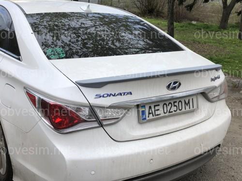 Спойлер лип багажника Hyundai Sonata 2010-2014 АБС пластик под покраску