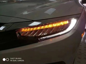 LED фары Honda Civic 10 2016-