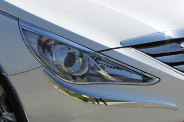 Хром накладки на фары AUTOCLOVER KOREA Hyundai Sonata YF 2010-2014 (пластик)