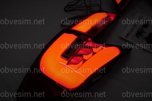 Задние фонари Toyota Camry 50 USA 2012-2014 красно-дымчатые LED