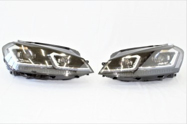 Передние LED фары для Volkswagen Golf 7.5 2017-