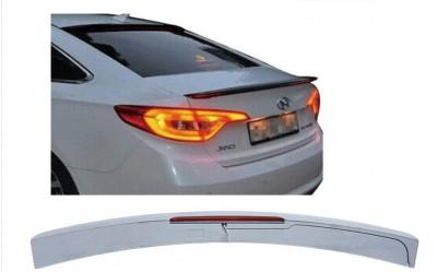 Козырёк на стекло Hyundai Sonata LF 2015-2019 с стопом  ABS пластик под покраску