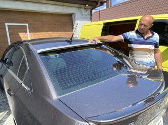 Козырёк на стекло Chevrolet Cruze 2009- ABS пластик  под покраску