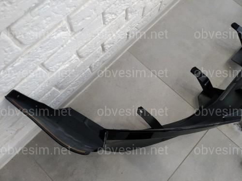 Юбка переднего бампера OEM Toyota Land Cruiser Prado 150 2018- цвет черный