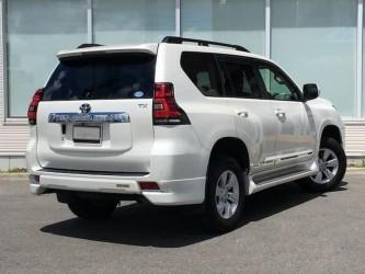 Углы заднего бампера OEM Toyota Land Cruiser Prado 150 2018- цвет черный