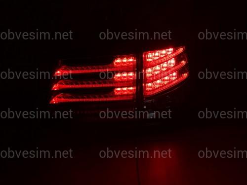 Задние фонари рестайлинг Lexus LX 570 2012-2015 красно-белые (комплект 4шт.)