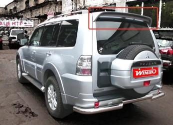 Спойлер на крышку багажника Mitsubishi Pajero Wagon 2000-2015 ABS пластик под покраску