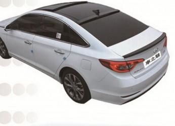 Козырёк на стекло Hyundai Sonata LF 2015-2019 ABS пластик под покраску