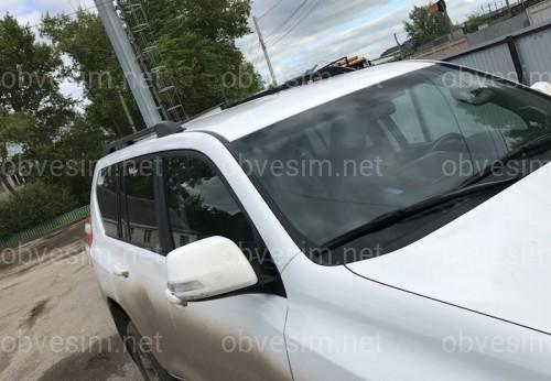 Рейлинги на крышу Toyota Land Cruiser Prado 150 2009-2020 качество оригинала (алюминий 2шт.) ЦВЕТ ЧЕРНЫЙ