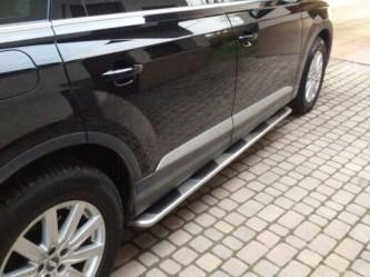 Пороги боковые Audi Q7 2015+