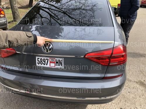 Спойлер лип на багажник Volkswagen Passat B7 / B8 USA 2011-2019 ABS пластик под покраску