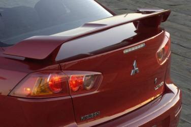Спойлер на багажник Lancer X 2007-2015 ABS пластик под покраску