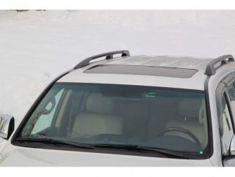Рейлинги на крышу Toyota Land Cruiser 200 2007-2019  черные