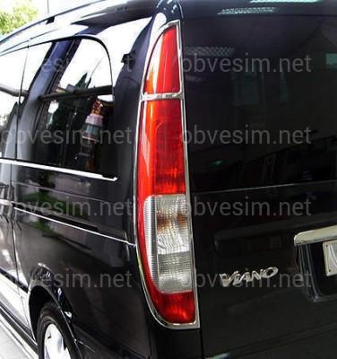 Хром накладки на стопы Mercedes-Benz W639 Vito / Viano 2003-2009 / Vito 2010-2015 дверь ЛЯДА (нержавеющая сталь)