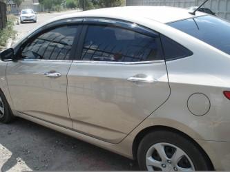 Молдинги окна нижние Hyundai Accent 2011-2015 (нержавеющая сталь)