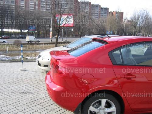 Спойлер лип багажника Mazda 3 2004-2009 ABS пластик под покраску