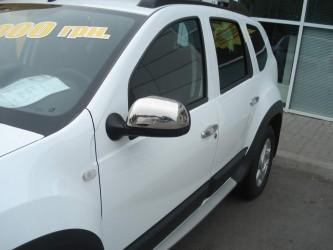 Хром накладки на зеркала Renault Duster 2010-2011 (нержавеющая сталь)