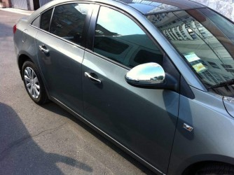 Хром накладки на зеркала Chevrolet Cruze 2009- (пластик)