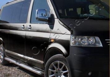 Молдинги на двери Volkswagen T-5 Transporter/ Caravelle/ Multivan длинная база (нержавеющая сталь)